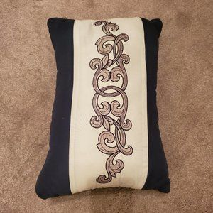 Decorative Pillow with Embroidery